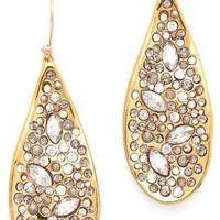 Alexis Bittar Crystal Encrusted Teardrop Earrings | SHOPBOP
