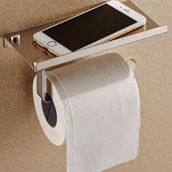 Stainless Steel Bathroom Towel Paper Phone Holder