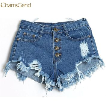 Shocking Show 1PC Women Vintage High Waist Jeans Hole Short Jeans Denim Shorts