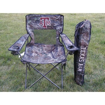 Texas A&M Aggies NCAA Ultimate Real Tree Camo Adult Tailgate Chair