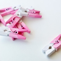 "10 Mini Clothespin Ombre in Pink - 1"" mini clothespins - sale / introductory price"