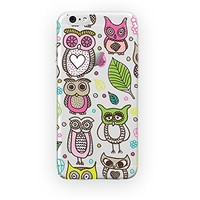 MFVN iPhone 5C/iPhone 5C Protective Case- Owl Design For iPhone 5C/5C-Owl Art Pictures Drawings iPhone Case On Amazon-Hard Plastic Clear Case Silicone Skin Cover