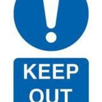 Tie tag, Keep out - Pack of 10