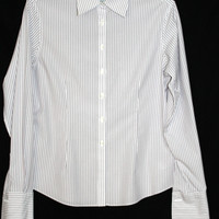 Brooks Brothers Womens Career Dress Shirt French Cuffs Size 6 Fitted
