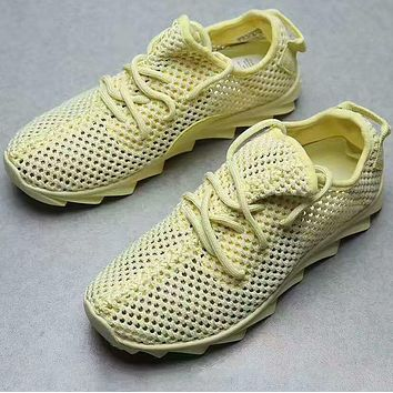 """Adidas"" Men Women Yeezy Boost Sneakers Running Sports Shoes Yellow"
