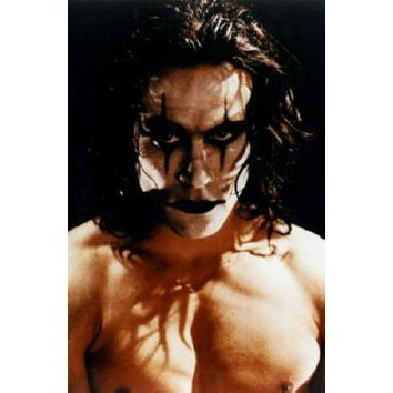 Crow The Brandon Lee Movie poster Metal Sign Wall Art 8in x 12in