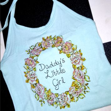 SWEET LORD O'MIGHTY! DDLG FLOWER HALTER IN BLUE