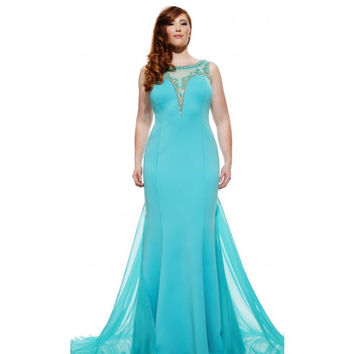 JOHNATHAN KAYNE 6023k Beaded Illusion Sweetheart Neckline Evening Prom Dress
