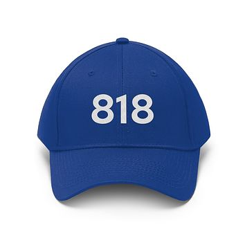 California 818 Area Code Embroidered Twill Hat