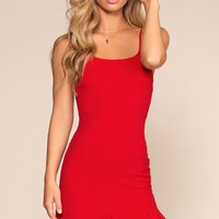 Sassafras Bodycon Dress - Red