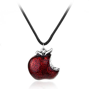 """Once Upon a Time Regina Mills"" Apple Necklace for Men and Women"