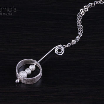 Silver ring necklace ring silver necklace by DeniasTreasures