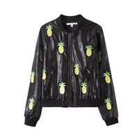 Pineapple Pattern Summer Fashion Style Lovely Women Clothing = 4697464516
