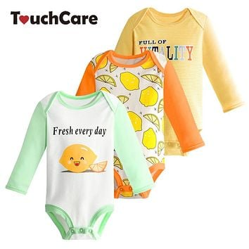 Baby Romper Set Infant Boys Girls Cotton Long Sleeve Jumpsuit Cartoon Cat Printed Pajamas Newborn Casual Outfit Clothes