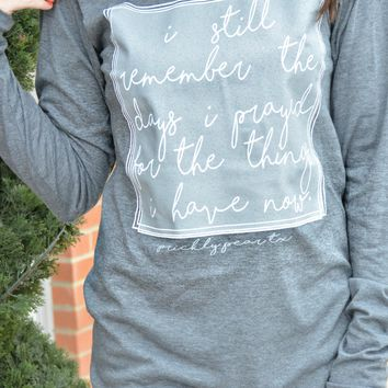 Remember When Long Sleeve Tee