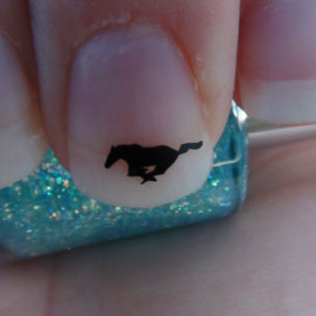 Mustang Horse Nail Art Decals Set of 50 Vinyl Stickers Applique Manicure Pedicure Party Gift Stocking Stuffers