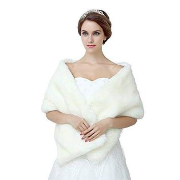 Ivory Shawl Wrap Faux Fur Scarf Stoles for Wedding Dresses