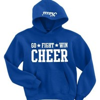 Cheer Go Fight Win Hoodie-Small-Royal