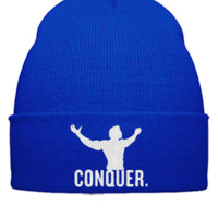 CONQUER EMBROIDERY hat - Beanie Cuffed Knit Cap