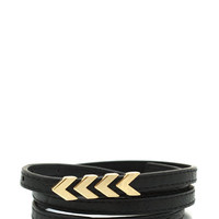 Chevron-And-On-Skinny-Belt BLACKGOLD ROYALGOLD - GoJane.com