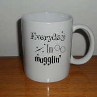 Everyday I'm Mugglin' Mug, Harry Potter Mug coffee, mug tea, size 8,2 x 9,5 cm