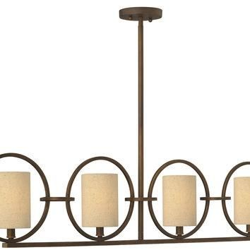 Pandora 4 Light Linear Chandelier