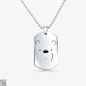 Ice Bear Face, We Bare Bears Tag Necklace