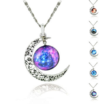 Moon Galaxy Cabochon Necklace