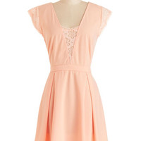 ModCloth Mid-length Cap Sleeves A-line Macaron Mornings Dress