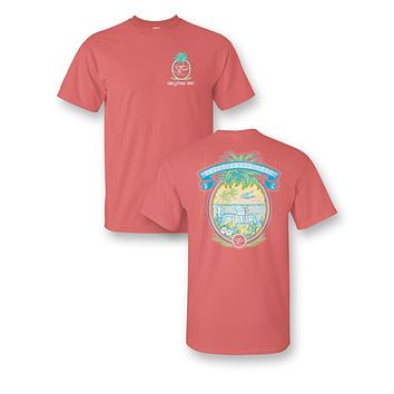 Sassy Frass Pineapple Beach Vacation Comfort Colors Girlie Bright T Shirt