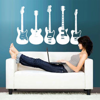 Wall Vinyl Sticker Decals Decor Art Bedroom Design Mural Rock Electric Guitar  (z2779)