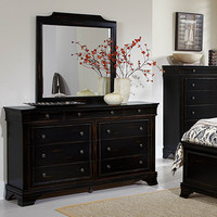 Homelegance Derby Run 9 Drawer Dresser w/ Mirror in Antique Black