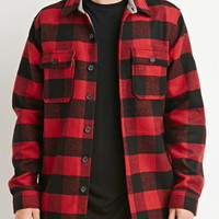 Buttoned Plaid Jacket