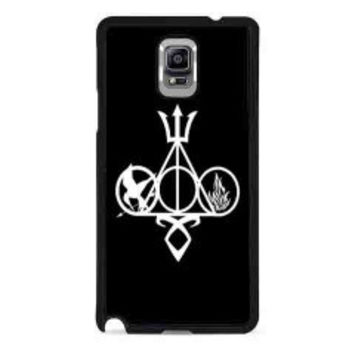 Harry Potter, Percy Jackson, Mortal Instruments, Hunger Games, and Divergent for samsung galaxy note 4 case