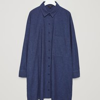 Cotton-denim shirt dress - Blue - Sale - COS US