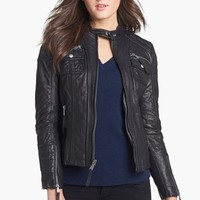 MICHAEL Michael Kors Leather Moto Jacket | Nordstrom