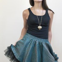 short, voluminous, tulle skirt | Aline Skirt | skirt tulle banarsi green short | Chic | UsTrendy