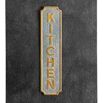 Kitchen Metal Wall Sign