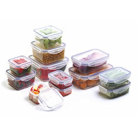 Bellaware Airtight Food Storage Containers with 4-Side Locking Lids, Plastic, Set of 12