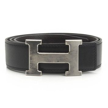AUTHENTIC HERMES CONSTANCE H BELT G BLACK BROWN 75 GRADE B USED-AT