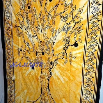 Hippie Tapestry TIE-DYE TREE Tapestry Hippy Wall Hanging Wall Decor Bed Spread Bed Cover New age drom tapestry tapestry wall hanging