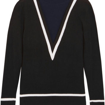 Victor Glemaud - Color-block cotton and cashmere-blend turtleneck sweater
