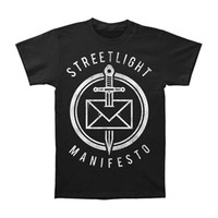 Streetlight Manifesto Men's  Dead Letter Black T-shirt Black