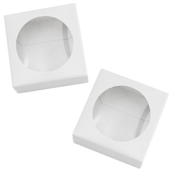 White Window Single Macaron Box