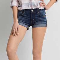 AEO Denim X4 Shortie, Dark Indigo Wash