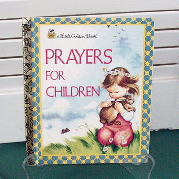 Little Golden Book Prayers For Children Vintage