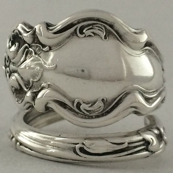 Size 8 Vintage Wallace Sterling Silver Spoon Ring