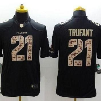 PEAPYD9 Nike Falcons #21 Desmond Trufant Black Men's Stitched NFL Limited Salute to Service Je