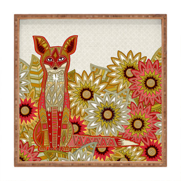 Sharon Turner Garden Fox Square Tray