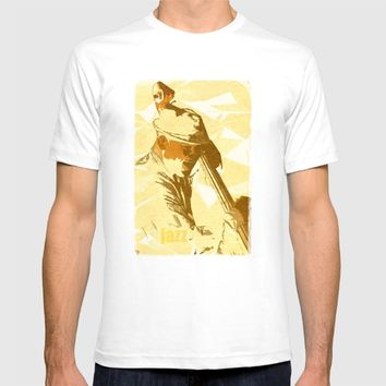 Jazz Contrabassist Poster T-shirt by Cinema4design | Society6